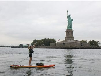 Brit paddles 250km on her SUP for a good cause - Stand Up Paddle News